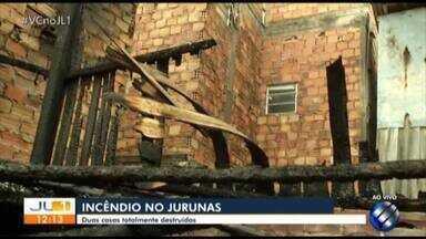 Incêndio destrói casas no bairro do Jurunas, em Belém - Cerca de 30 pessoas foram afetadas com o acidente.