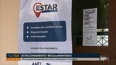 Estacionamento regulamentado tem mais um ponto de regularização em Ponta Grossa - Novo posto de atendimento fica na Estação Arte, no Parque Ambiental.