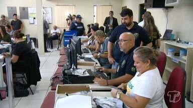 Após votação, trabalho de apuração foi rápido no Fórum Eleitoral de Santarém - Uma força tarefa foi montada para agilizar o resultado.