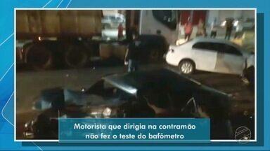 Motorista que dirigia na contramão não fez teste do bafômetro - Motorista que dirigia na contramão não fez teste do bafômetro.
