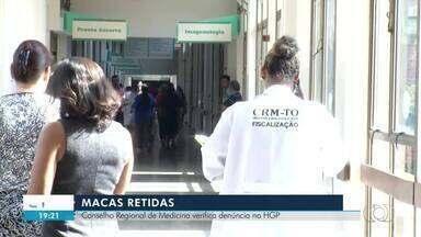 Fiscais visitam HGP para verificar motivo de macas do Samu terem sido retidas no hospital - Fiscais visitam HGP para verificar motivo de macas do Samu terem sido retidas no hospital