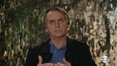 Presidente eleito, Jair Bolsonaro é entrevistado no JN - Presidente eleito no segundo turno cumprimenta eleitores e fala sobre os próximos passos.