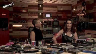 Maquiadora faz cicatriz falsa na Cecília. Apresentadora comenta como é feito nas novelas - Tema do programa é halloween.