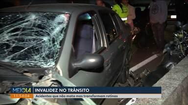Acidentes que resultam em invalidez poderiam ser evitados - Muitas vezes, as pessoas que conseguem sobreviver a uma fatalidade do trânsito tem a rotina alterada no dia a dia