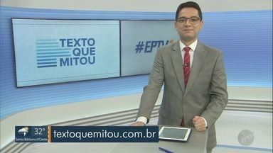 'Texto que mitou': está aberta a votação dos vídeos de estudantes selecionados no concurso - Projeto da EPTV comemora 20 anos de Enem.