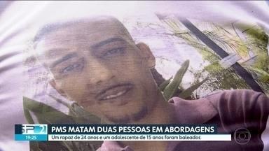 Duas famílias enterram parentes mortos em diferentes ações da Polícia Militar - Neste feriado de finados, a família de um adolescente de 15 anos e de um rapaz de 24 anos que foram baleados em ações da Polícia Militar se despedem de seus parentes.