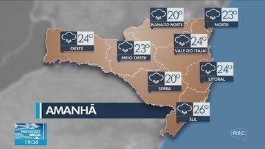 Veja como ficará o tempo em todas as regiões de SC neste sábado (3) - Veja como ficará o tempo em todas as regiões de SC neste sábado (3)