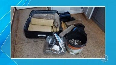 Dois jovens foram presos e adolescente apreendido em Dourados - Caso ocorreu na noite dessa sexta-feira (2). Eles estavam com porções de cocaína em potes de arroz.