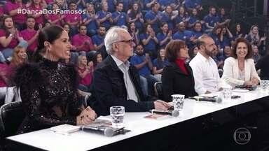 Faustão apresenta os jurados da 'Dança dos Famosos' - São eles Adriane Galisteu, Christiane Torloni e Artur Xexéo como artísticos e Philip Miha e Regina Calil como técnicos