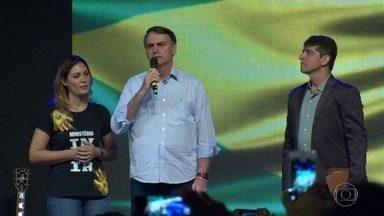 Jair Bolsonaro começou o dia em culto neste domingo (4) - O presidente eleito passou o dia no Rio e a repórter Lília Teles acompanhou seus passos.