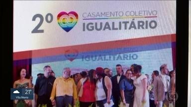 Prefeitura de SP abre inscrições para casamento coletivo gay - A união de casais do mesmo sexo é uma conquista recente, de 2013, e importante para a sociedade.