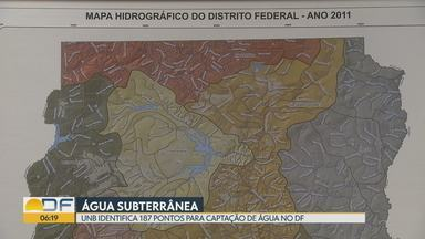 Pesquisadores da UnB fizeram um mapeamento com pontos de captação subterrânea de água - Os locais têm potencial para captar água de boa qualidade. O estudo foi encomendado pela Adasa no ano passado durante a crise hídrica.