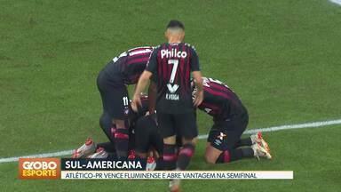 Atlético-PR sai na frente na semifinal da Sulamericana - Em casa, Furacão faz 2x0 no Fluminense e abre vantagem na disputa pela vaga na decisão