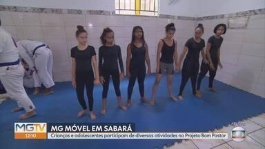 Conheça o Projeto Bom Pastor que trabalha com crianças e adolescentes - O MG Móvel foi a Sabará para conhecer um projeto que promove o desenvolvimento de crianças, jovens e adultos da cidade. São diversas atividades e todas de graça.