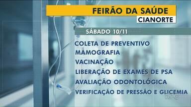 Em Cianorte tem feirão de saúde neste sábado - O Feirão vai ser realizado na UBS extensão que fica próximo ao Fórum da Cidade.