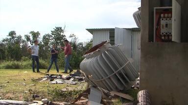 Produtores estão preocupados com a ação de bandidos que roubam fios no oeste da Bahia - O problema causa a falta de energia em subestações de energias das fazendas. Em um dos locais foram mais de R$ 100 mil reais de prejuízo.