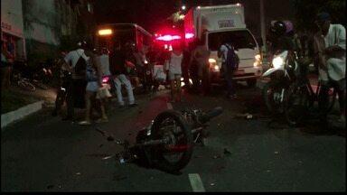 JPB2JP: Acidente com morte no Varadouro em João Pessoa - Homem morre e a filha dele fica gravemente ferida.