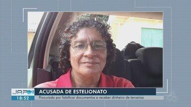 Mulher é procurada pela polícia do AP por usar documento falso em empréstimos e compras - Maria Áurea Rodrigues Avis, de 59 anos, usa documentos de outras pessoas, com a foto dela, para aplicar golpes.