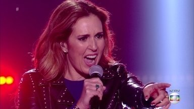 Renata Capucci canta 'Livin' On A Prayer' - A jornalista surpreende os especialistas com sua apresentação