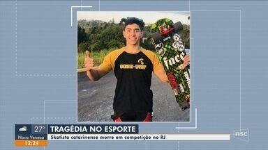 Skatista morre após acidente em mundial na Vista Chinesa, Zona Sul do Rio - Skatista morre após acidente em mundial na Vista Chinesa, Zona Sul do Rio
