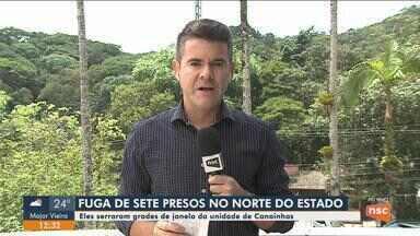 Sete presos fogem da UPA de Canoinhas - Sete presos fogem da UPA de Canoinhas