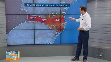 Confira a previsão do tempo desta segunda-feira (12) para SC - Confira a previsão do tempo desta segunda-feira (12) para SC