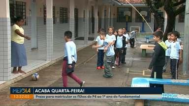 Prazo para efetivar matrícula nas escolas municipais termina na quarta-feira (14) - Prazo vale para crianças do P4 ao 1º ano do ensino fundamental.