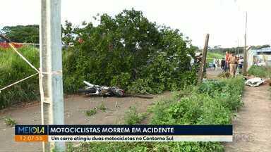 Dois motociclistas morrem em acidente no Contorno Sul em Maringá - O motorista que bateu nos motociclistas foi preso por dirigir após ingerir bebida alcoólica.