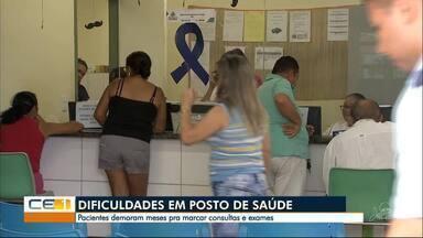 Pacientes reclamam da demora para marcar exames em posto de saúde no Barroso - Confira outras informações no g1.globo.com/ce