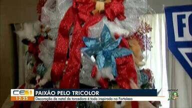 Decoração de Natal de torcedora é inspirada no Fortaleza - Confira outras informações no g1.globo.com/ce