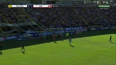 Jogando fora de casa, CRB empata com Criciúma - Partida terminou em 3 a 3.