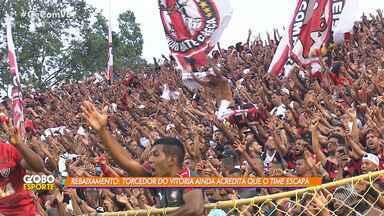 Apesar de má fase, torcedores do Vitória fazem festa durante clássico Ba-Vi - A partida aconteceu no Estádio do Barradão, em Salvador.