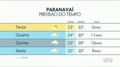 Terça-feira será de sol, mas feriado deve ter chuva no Noroeste - Nesta terça-feira, 13, faz calor de 35 graus em Umuarama e Querência do Norte.