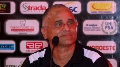 Assista à coletiva de Oliveira Canindé, técnico do River-PI - Assista à coletiva de Oliveira Canindé, técnico do River-PI