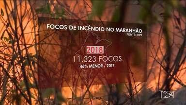 Maranhão alcança 3º lugar no número de queimadas do país - Levantamento do INPE aponta que só em novembro foram registrados 643 focos de incêndio no Estado.