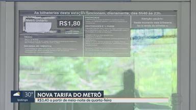 CBTU diz que vai aumentar em 89% nesta quarta-feira tarifa do metrô de Belo Horizonte - Ministro do STJ suspendeu liminar que impedia reajuste das passagens na capital.