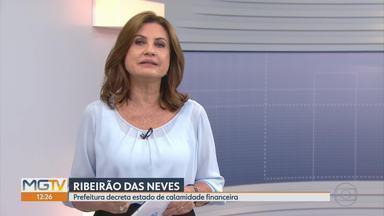Prefeitura de Ribeirão das Neves decreta estado de calamidade financeira - A cidade enfrenta dificuldades financeiras por falta de repasses de verbas estaduais.