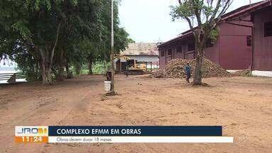Complexo da Estrada de Ferro Madeira Mamoré em obras - Obras devem durar 18 meses.