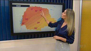 Feriado será quente e pode chover na região de Maringá - O calor continua nesta sexta-feira.