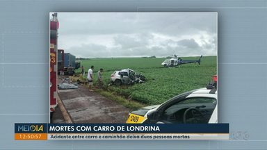 Acidente entre carro e caminhão deixa duas pessoas mortas - O acidente foi na manhã desta quinta-feira (15) na PR-239 entre Assis Chateaubriand e Toledo.