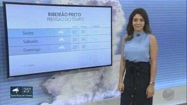 Confira a previsão do tempo para esta sexta-feira (16) na região de Ribeirão Preto - Há possibilidade de pancadas de chuva na maioria das cidades.
