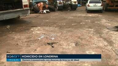 Homem é assassinado na Zona Oeste de Londrina - O crime foi na Rua Bauxita, no Jardim Ideal.