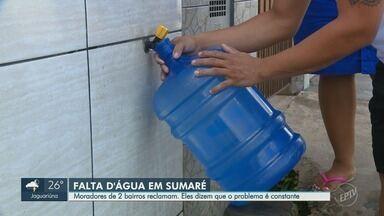 Moradores de Sumaré reclamam de falta d'água recorrente - População critica qualidade de serviço prestado por empresa responsável por serviços; instituição defende ações.