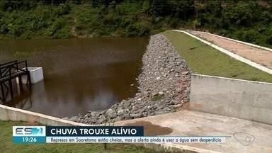 Chuva enche barragem de Pinheiros, no Norte do ES - Outros municípios também foram beneficiados pela chuva.