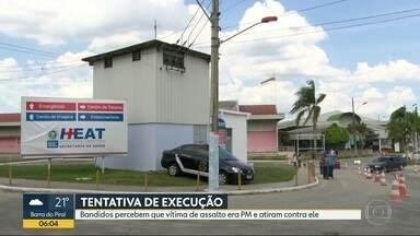 Bandidos tentam executar policial militar em Niterói - Os criminosos faziam um assalto quando perceberam que a vítima era PM.