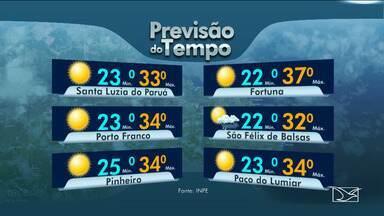 Veja as variações das temperaturas no Maranhão - Segundo a previsão do tempo, a sexta-feira (16) será de tempo quente na maior parte do estado.