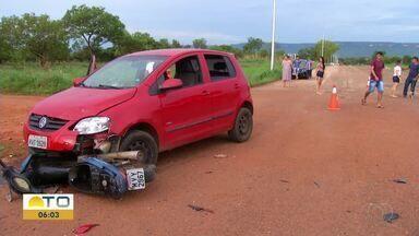 Acidente deixa mulher e criança de 5 anos feridas em Palmas - Acidente deixa mulher e criança de 5 anos feridas em Palmas