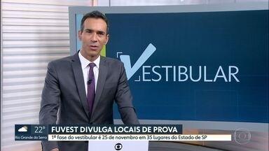 Fuvest divulga locais de prova da 1ª fase - Vestibular 2019 para entrar na USP será em 35 lugares de SP