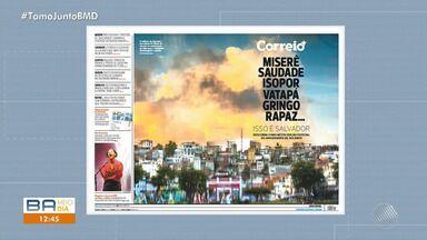 Jornal Correio é premiado por capa comemorativa referente ao aniversário de Salvador - Veículo também recebeu um prêmio internacional sobre textos digitais.