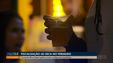 Guarda Municipal notifica 16 pessoas por desobedecerem a Lei Seca - A maioria das notificações foi na Av. Higienópolis.